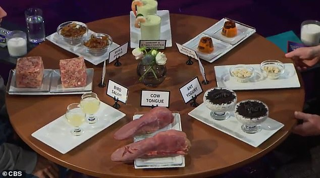 Background:The segment sees participants presented with the choice of either answering a revealing question or dining from a plate of varied culinary selections