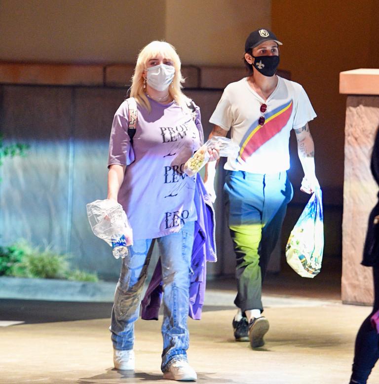 Billie Eilish and her boyfriend Matthew Tyler Vorce head out on a date night to Disneyland