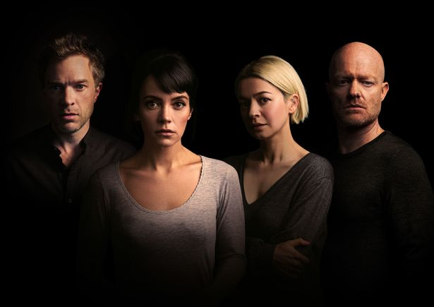Hadley Fraser, Lily Allen, Julia Chan, Jake Wood. Lily Allen will make her West End debut this summer in a new play by Danny Robins at the Noel Coward Theatre.