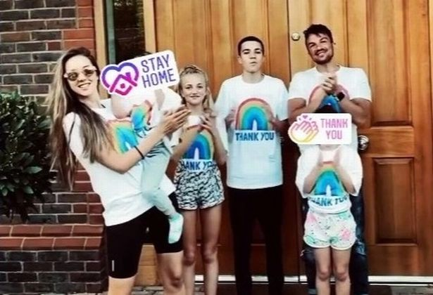 Peter with his wife Emily MacDonagh and his four kids Junior, Princess, Amelia and Theo