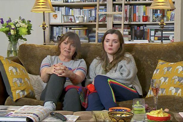 Lorraine and Rosie on Celebrity Gogglebox