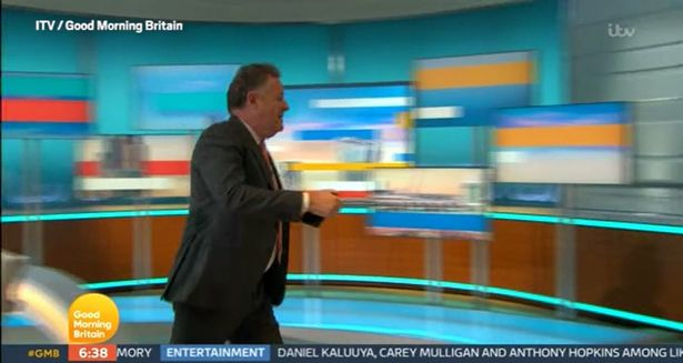 Piers seen storming off the set of GMB on his last show before he was axed