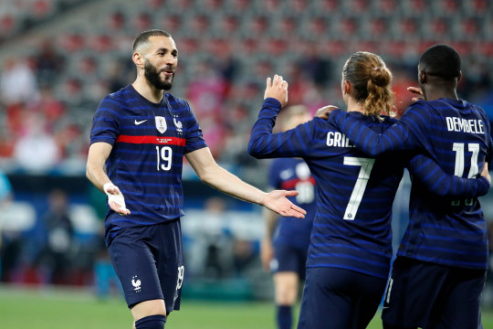 Karim Benzema is expected to lead France's attack against Germany on Tuesday