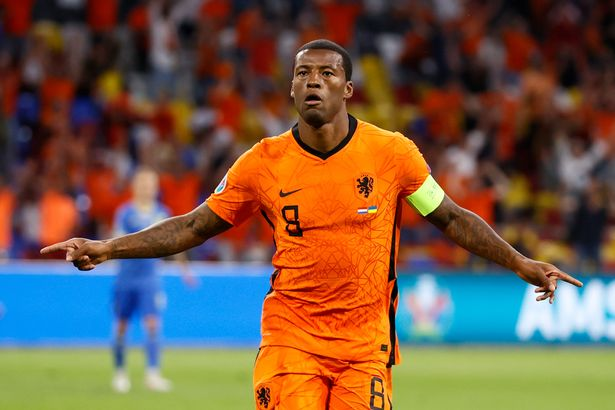 Georginio Wijnaldum has already notched his first goal of Euro 2020 for the Netherlands