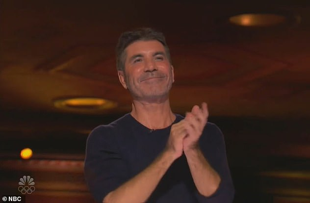 Wow: The singer who appeared on the music competition in 2011, sparked claims she's joining the panel after the X Factor Wikipedia page listed her as a judge (pictured Simon Cowell)