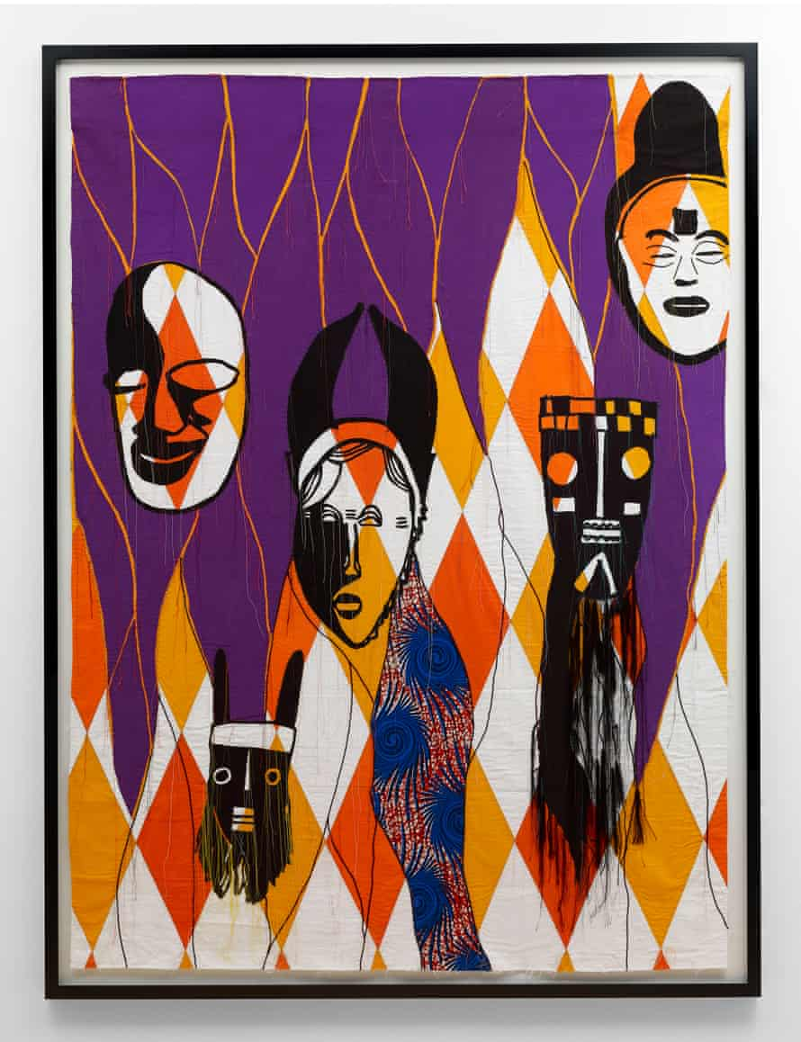 'Things haven't changed that much for people of African origin' ... Modern Magic (Studies of African Art from Picasso's Collection) I, by Shonibare.