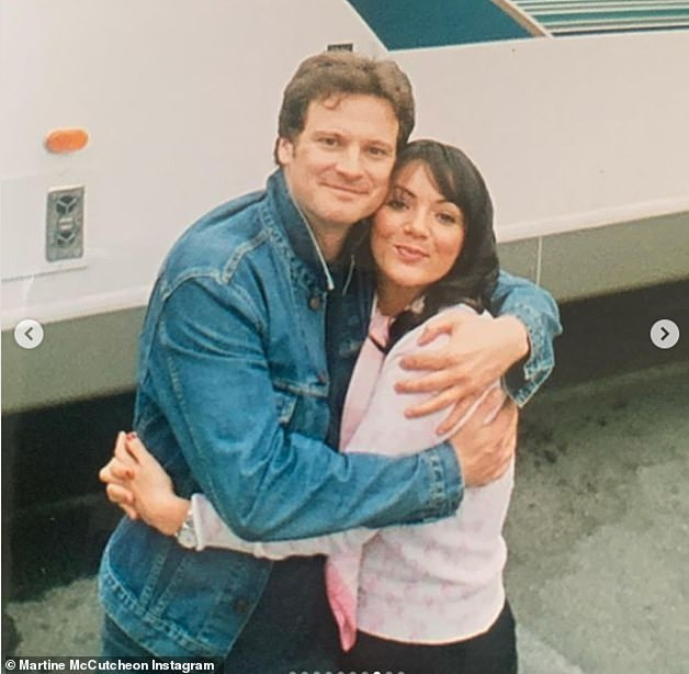 Love Actually: It comes after Martine shared a collection of throwback snaps to social media to mark her 45th birthday, including one with her Love Actually co-star Colin Firth