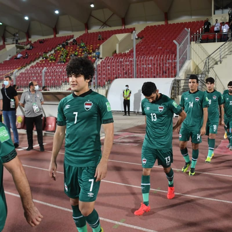 Iraq walk out ahead of the match against IR Iran