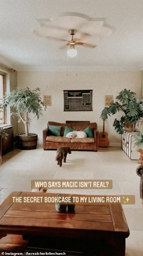 Magical scenes: 'Who says magic isn't real!' asked Charlotte as she shared the clip along with the Harry Potter theme music