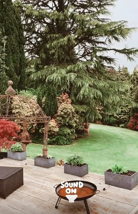 Plenty of greenery: Although Charlotte gave fans a look at her incredible outdoor space the private school she has set up on her grounds was not visible