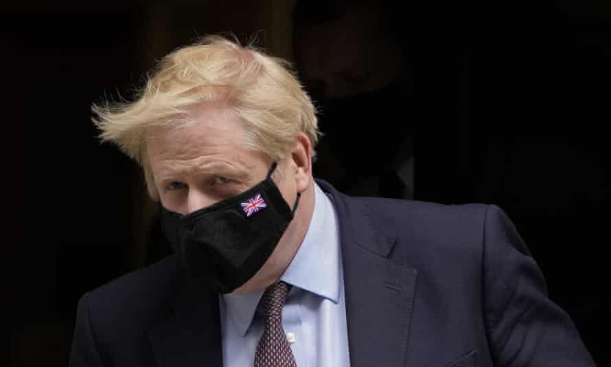 Boris Johnson leaving Downing Street last month.
