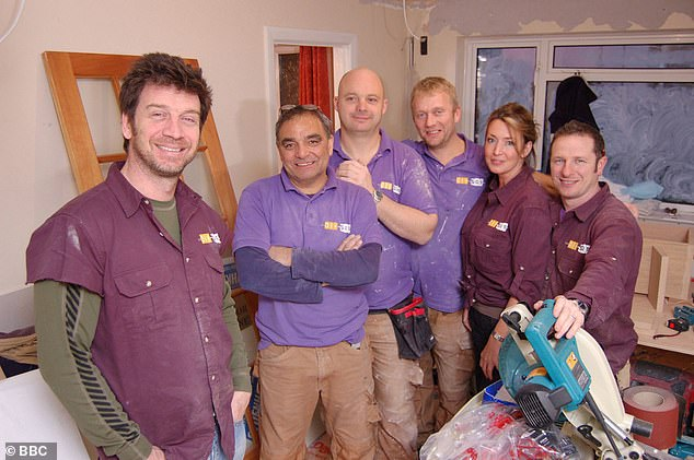 Furore: The claims come after Nick Knowles was reported to have upset corporation bosses after playing a jobbing builder in a new Shreddies ad (pictured with the DIY SOS team in2008)