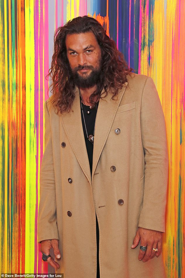 Feted: Aquaman leading man Jason Momoa is among the film stars who will receive a star