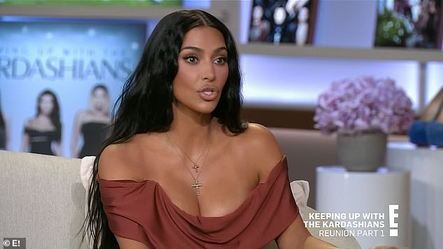 Only once:'I wish I was only married once,' Kim, 40, said during the E! show titled The Final Curtain