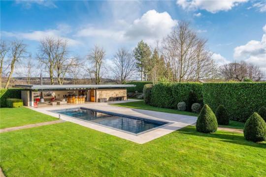 Six-bedroom detached house, Batley, West Yorkshire, £2,375,000 - outdoor heated pool