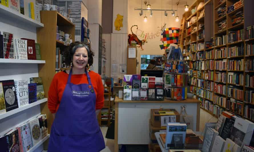 Marie Moser of The Edinburgh Bookshop