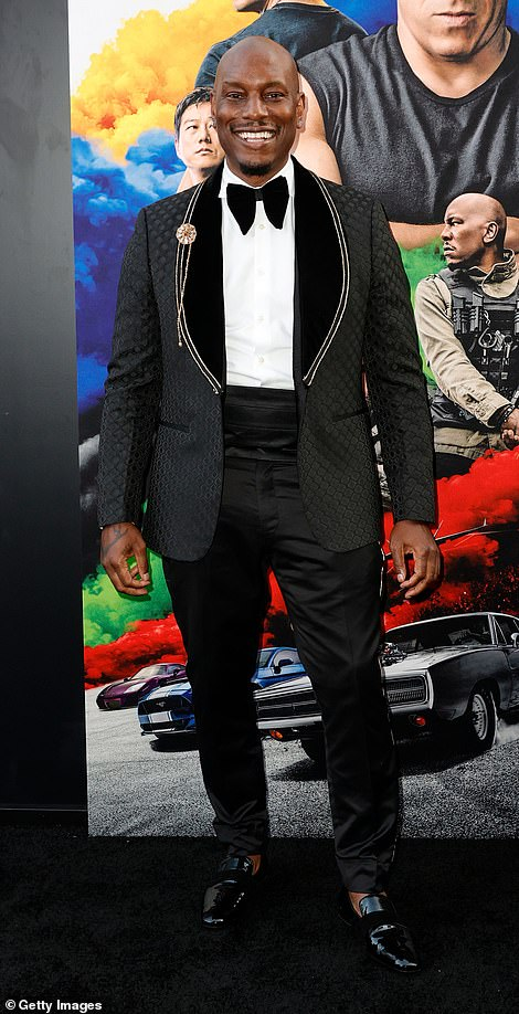 Suave: Tyrese Gibson got all gussied up for his film's big night