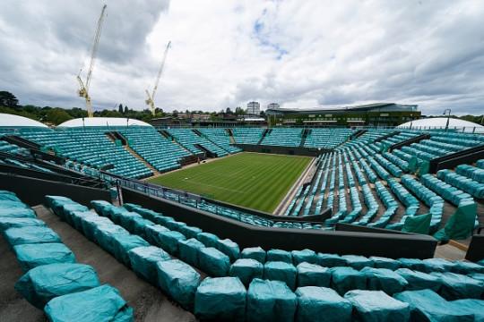 An empty court at Wimbledon.