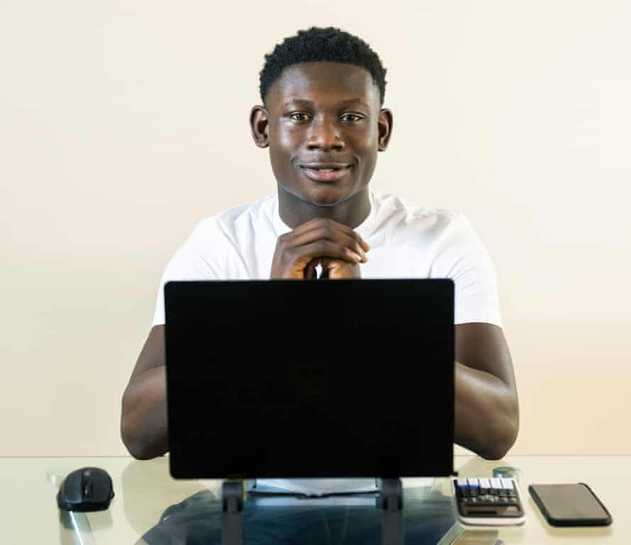 Poku Banks, a student who posts finance videos on TikTok.