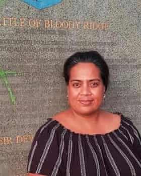 Nicky Kaierua, the sister of Eritara Aati Kaierua, a fisheries observer.