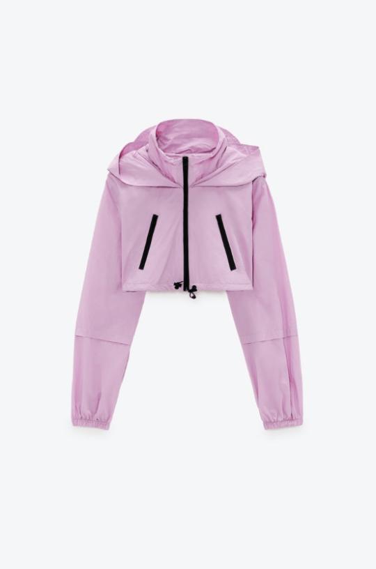Zara cropped rain jacket