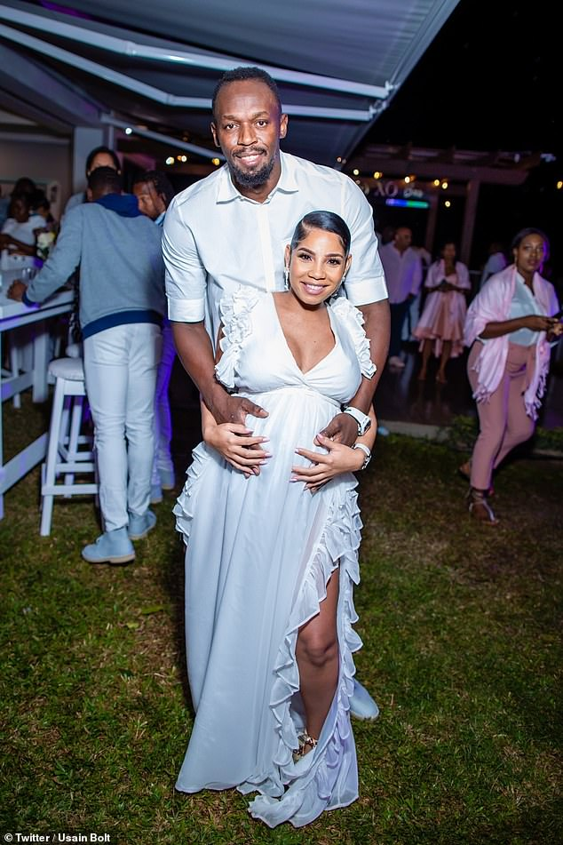 Going strong: The pair have been dating for six years (pictured while Kasi was pregnant with Olympia)
