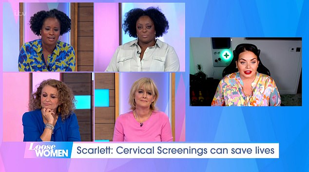 Treatment: Scarlett told the panel that she later underwent Lletz treatment to have the abnormal cells removed