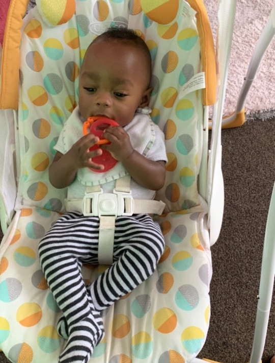 Baby Larenz Carr a few months old