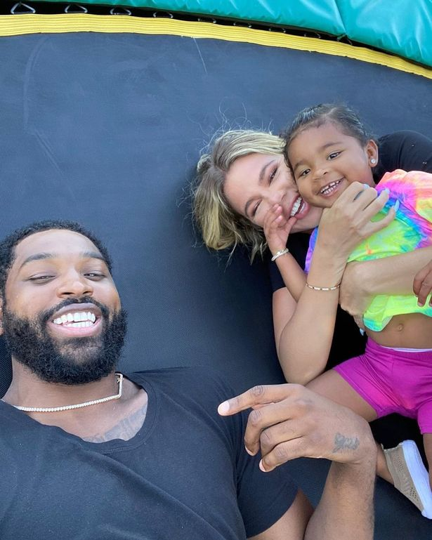 Khloe, Tristan and daughter True