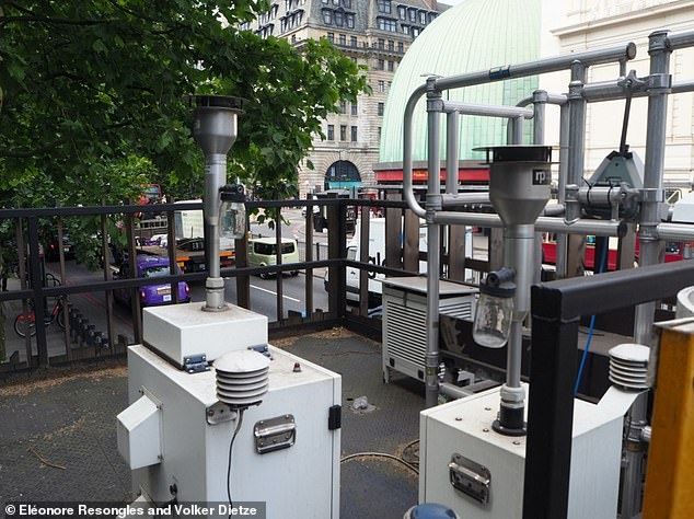 Airborne particle samplers at the Marylebone Road station (which has more than 80,000 vehicles a day) in central London