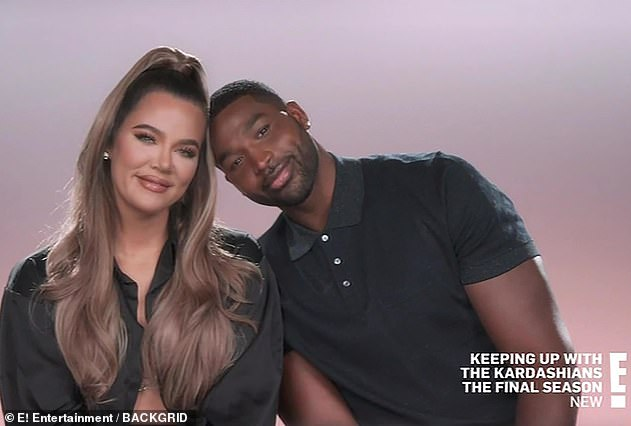 Ouch: Khloe was seen on Sunday talking about how Tristan had worked hard to rebuild her trust