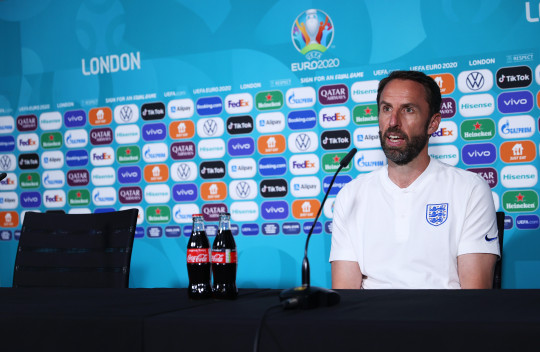 Gareth Southgate speaks to the media
