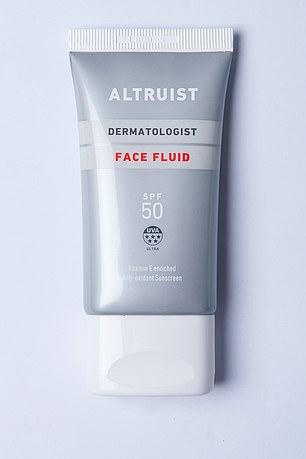 Altruist Face Fluid SPF 50, five-star UVA protection, £9/50ml, altruistsun.com