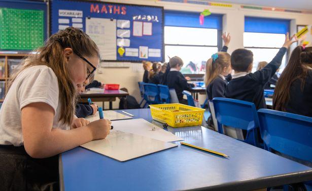 Children in a class room