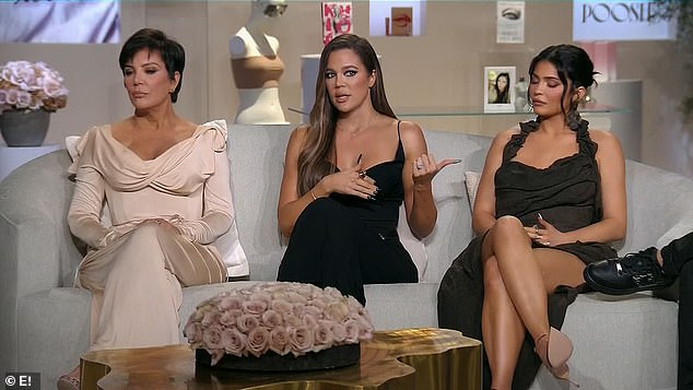 Spilling all: The 36-year-old answered some tough questions about her relationship with Tristan during the second part of the Keeping Up With The Kardashians reunion on Sunday