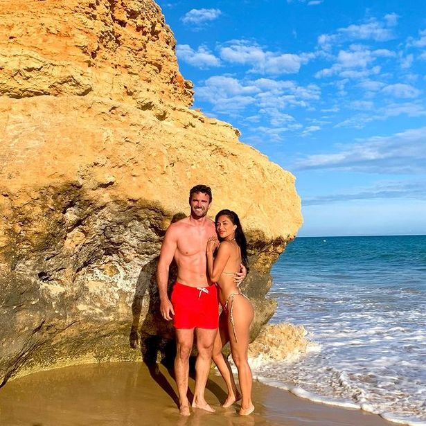 The couple escaped to Portugal for a beach break
