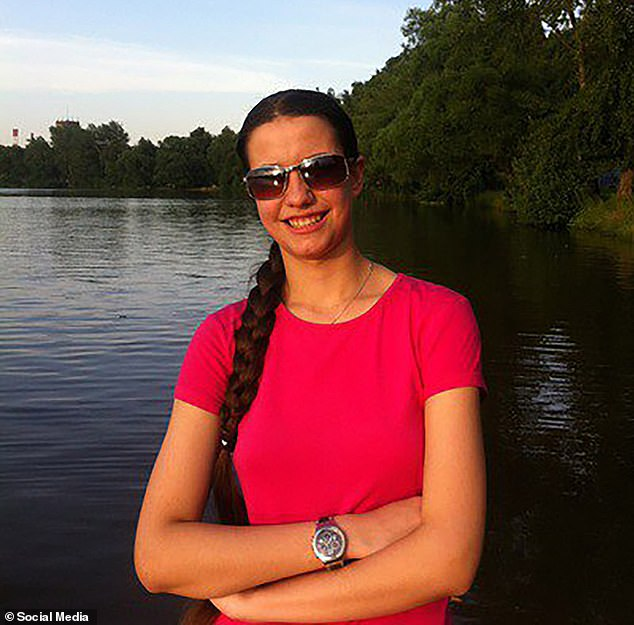 Osipova (pictured) was detained at the residential summer camp andwas being questioned by the Russian Investigative Committee