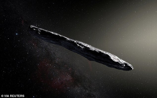 'Oumuamua was discovered by a telescope in Hawaii millions of miles away. The object did not seem to be an ordinary rock, because after slingshotting around the sun, it sped up and deviated from the expected trajectory, propelled by a mysterious force