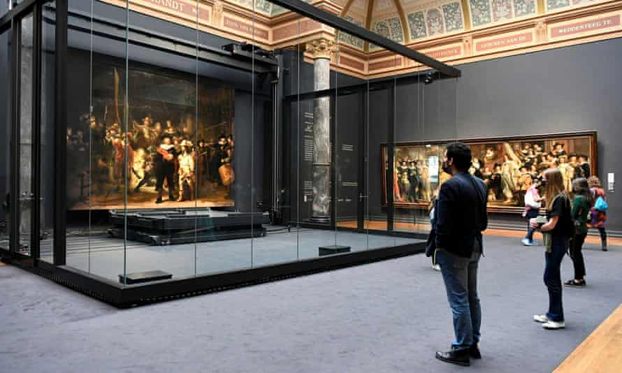 People view the work at the Rijksmuseum