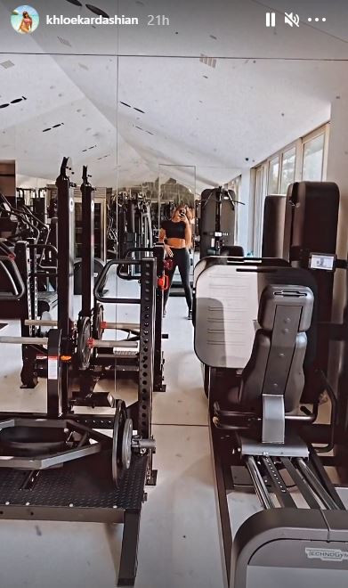 Khloe Kardashian works out to break-up song