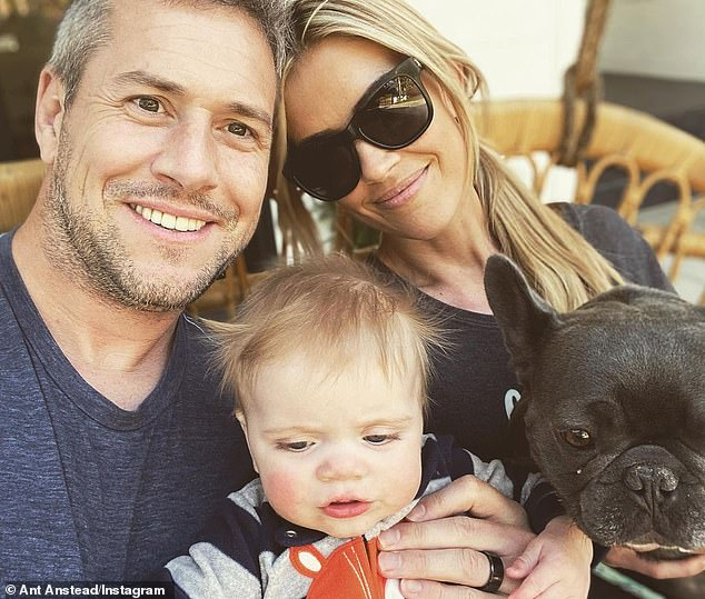 Priority: Christina and Ant - who began their romance in November 2017 - will share legal and physical custody of their 21-month-old son Hudson London (pictured in 2020)