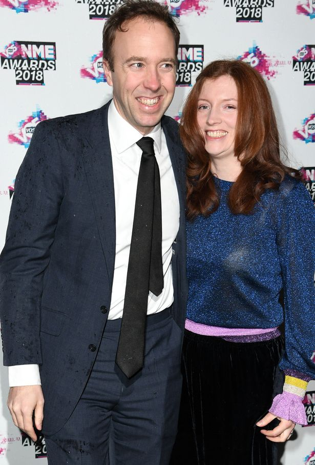 Matt Hancock and his wife Martha attend the VO5 NME Awards