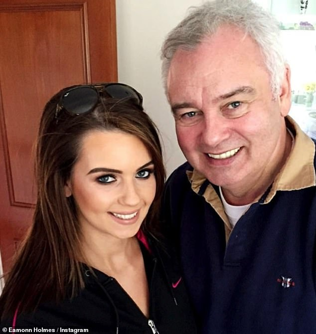 Doting dad: Rebecca (pictured) is Eamonn's only daughter who he shares with ex-wife Gabrielle Holmes.Eamonn and Gabriella also share sons Declan, 32, and Niall, 28. He shares his youngest son Jack, 19, with wife his Ruth Langsford