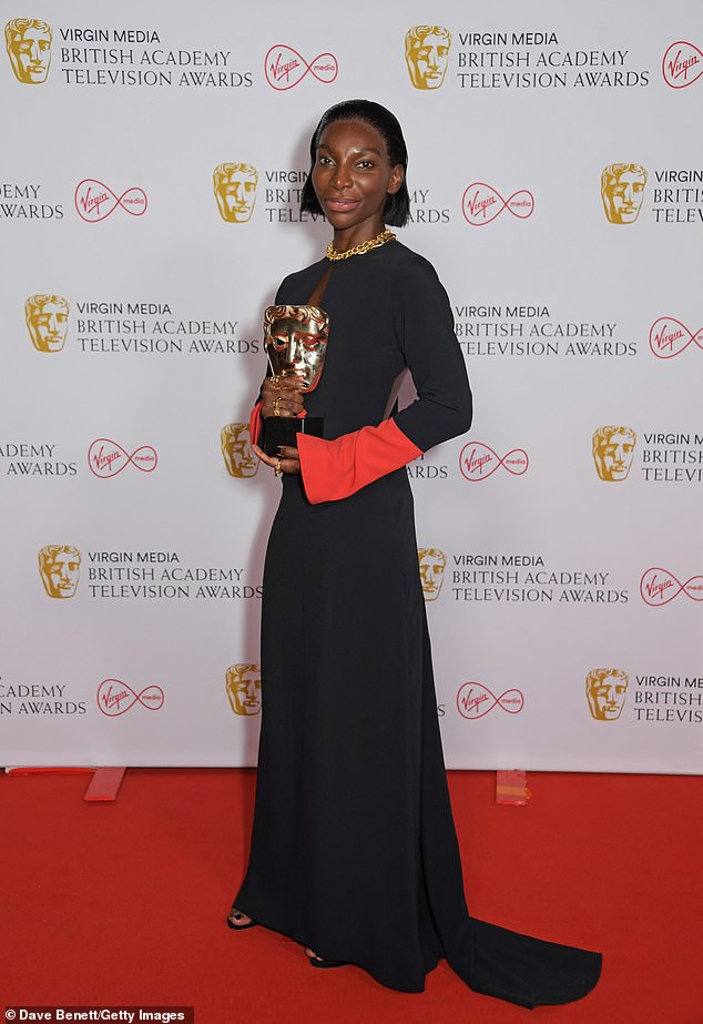 Winner:Hard work paid off for Michaela Coel at the British Academy Television Awards as she took home the gongs for Leading Actress and Mini-series for I May Destroy You