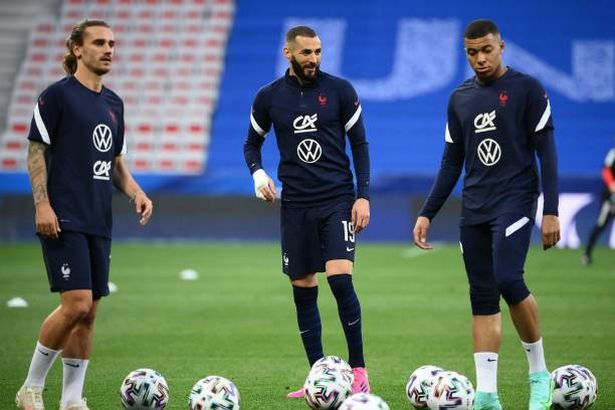 Benzema adds to a forward line already including Mbappe, Griezmann, Coman and Giroud