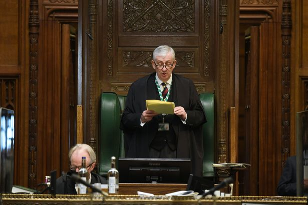 """The Speaker said the amendment was """"out of scope"""" - but urged the Government to bring forward an emergency vote"""