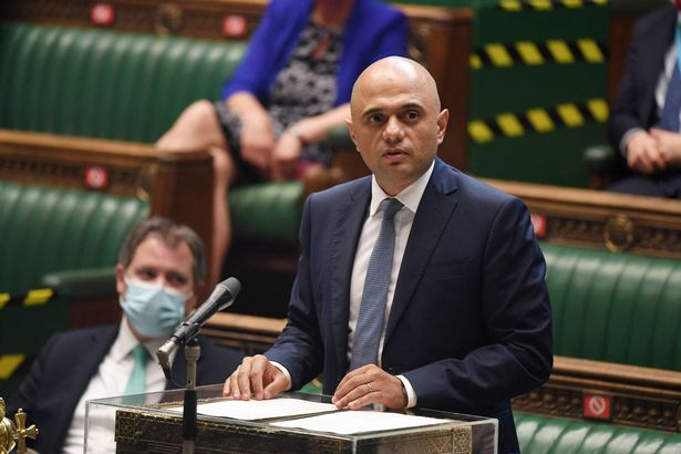 Britain's Health Secretary Sajid Javid giving the latest Covid-19 update in the House of Commons