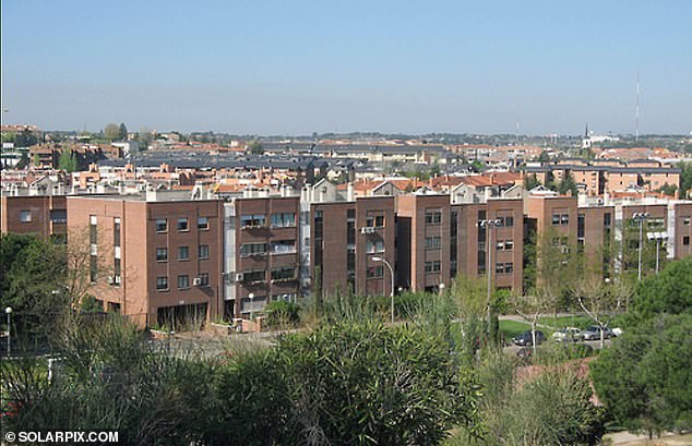 The 59-year-old's body was found next to her partner's in the garden of their home on a gated estate in upmarket Pozuelo de Alarcon to the west of the Spanish capital