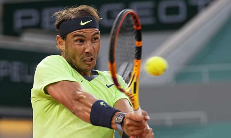 Rafael Nadal brought up his 17th career victory over Richard Gasquet, who has never beaten him – a record.