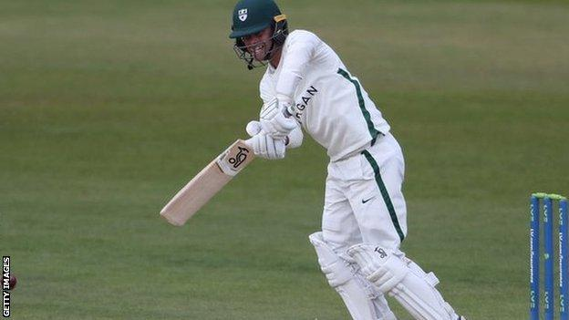 Worcestershire opener Jake Libby's third century of the summer takes him to 771 runs for the season -within 16 of the country's top scorer, Durham's David Bedingham